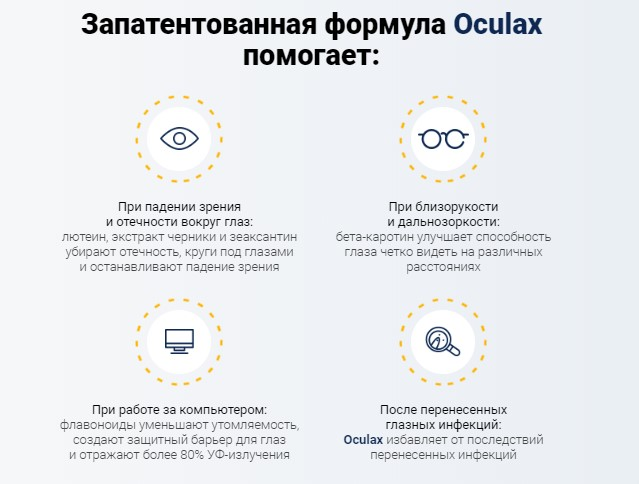 как действует Oculax