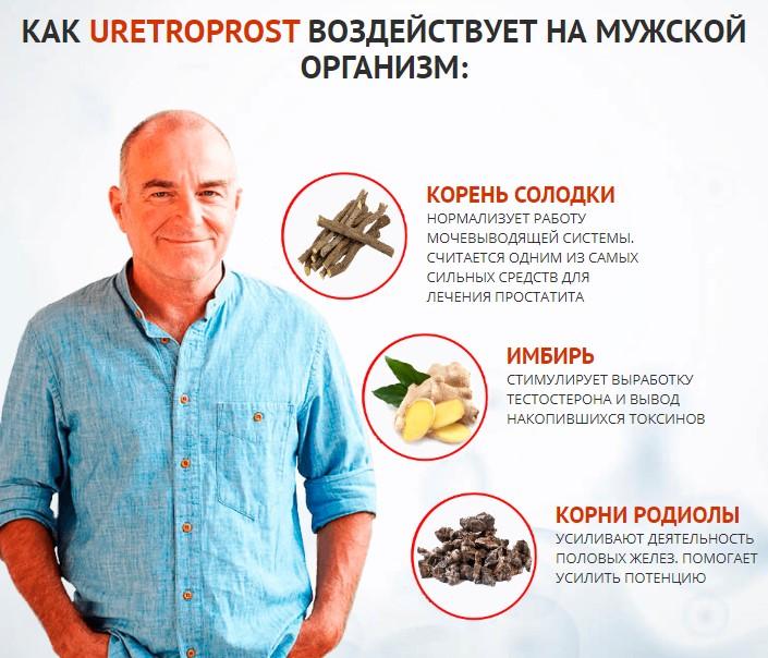 состав капсул от простатита UretroProst