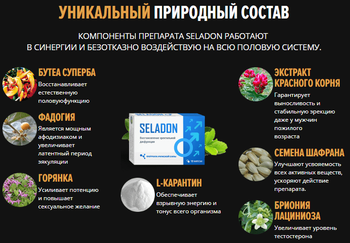 Капсулы для потенции Seladon (Селадон)