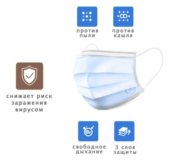 маска многоразовая защитная медицинская купить казань