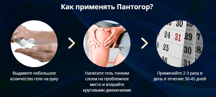 применение геля Пантогор