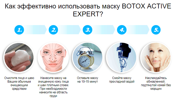 как применять маску Botox Active Expert