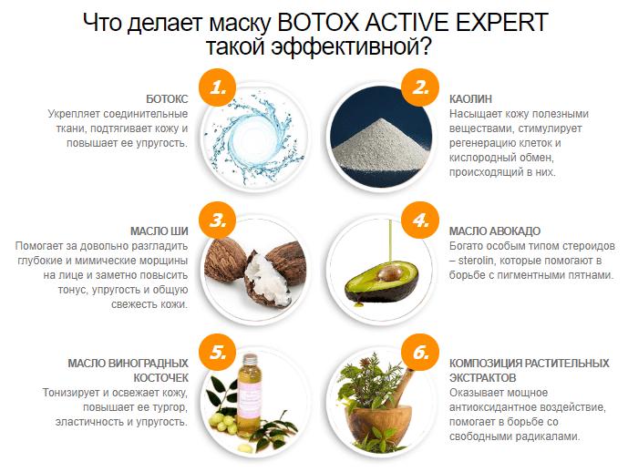 состав маски Botox Active Expert