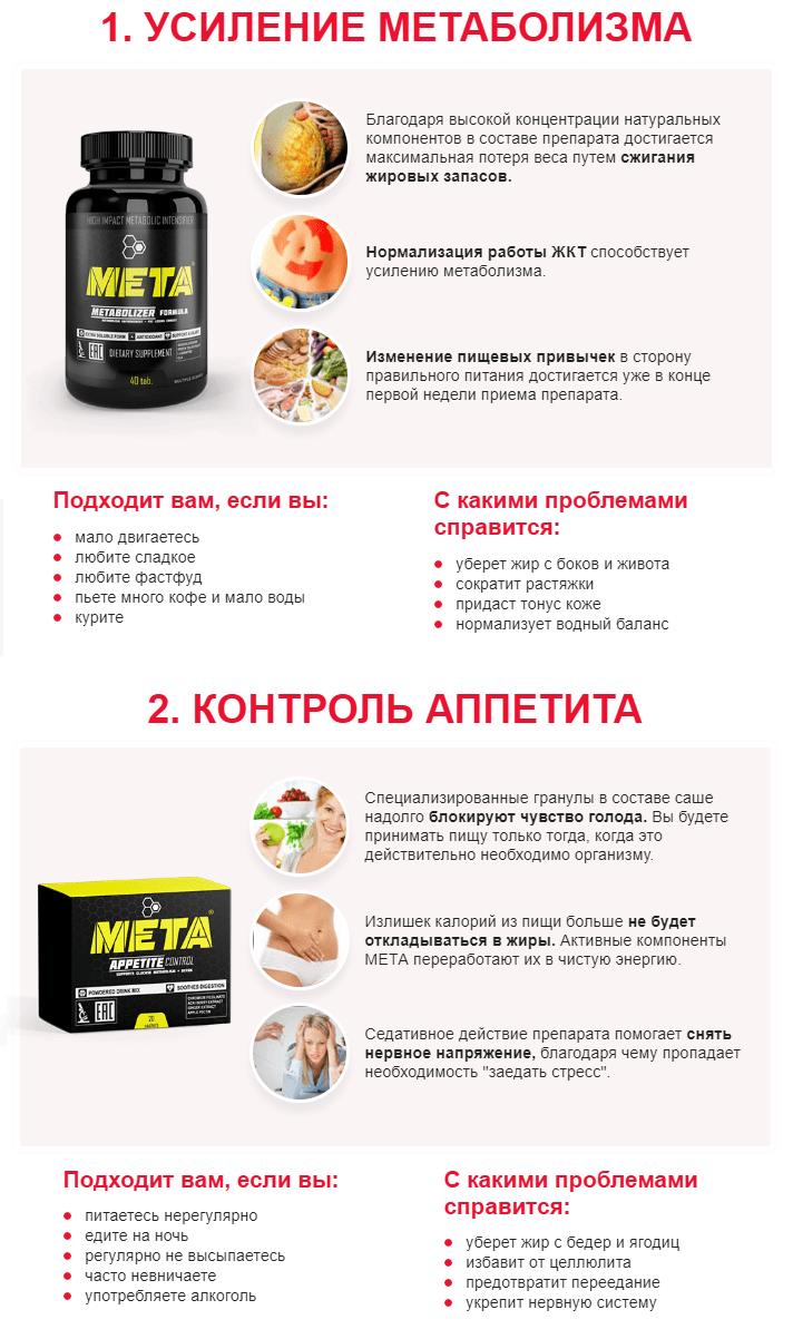 Комплекс МЕТА для похудения